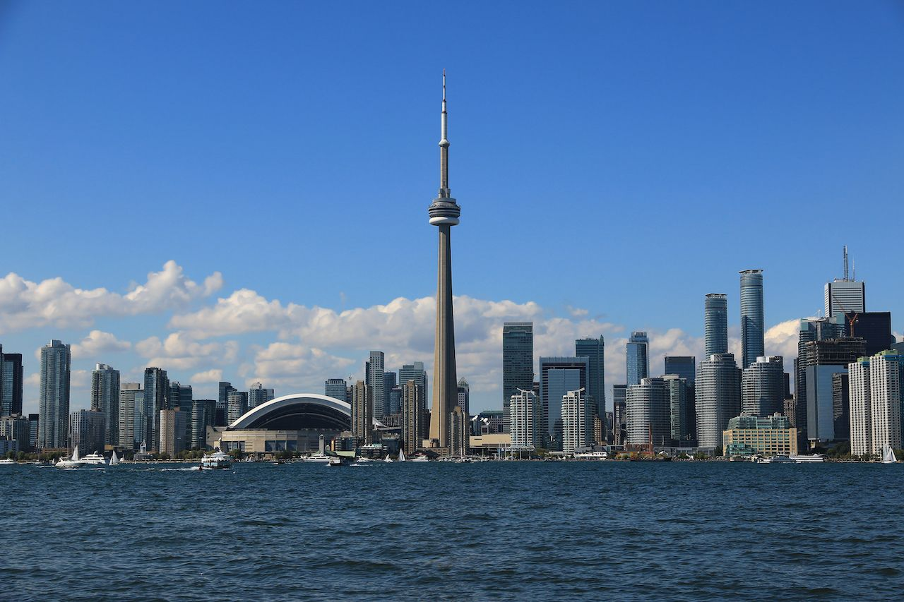 Toronto skyline across water