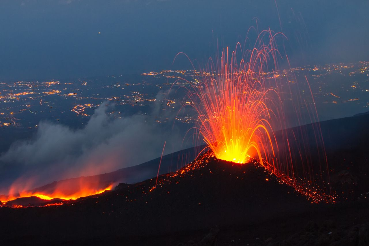 Mount Etna in italy