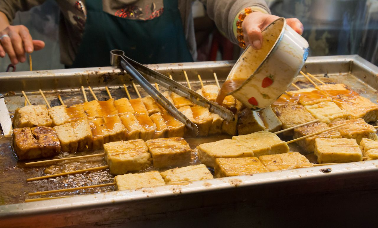 Stinky tofu street food