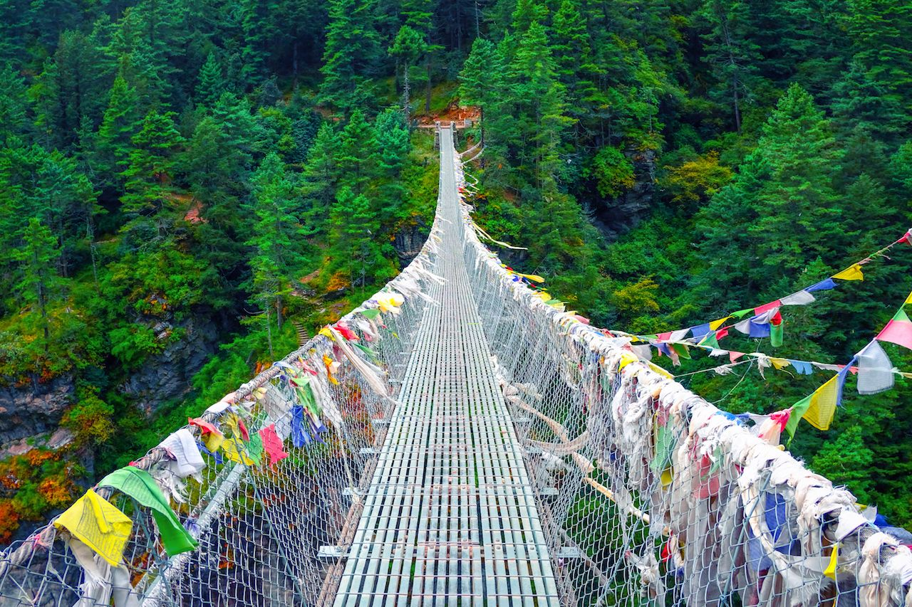 Suspension bridge in Nepal