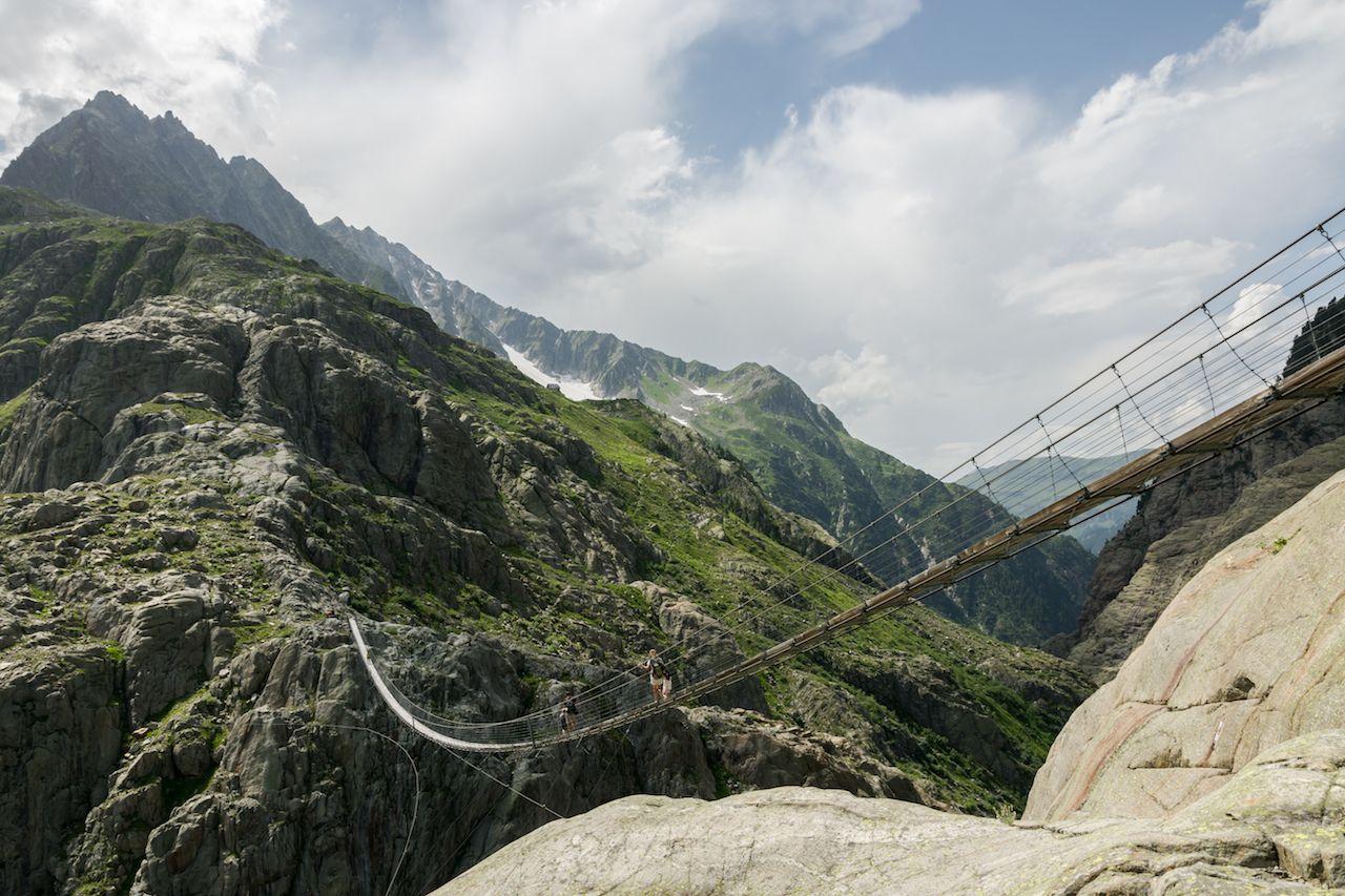 Swiss suspension bridge