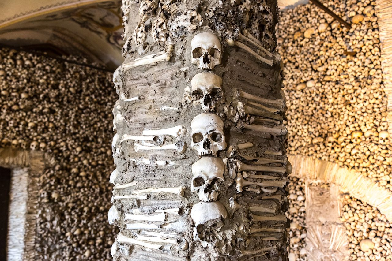 Chapel of Bones in Evora, Portugal