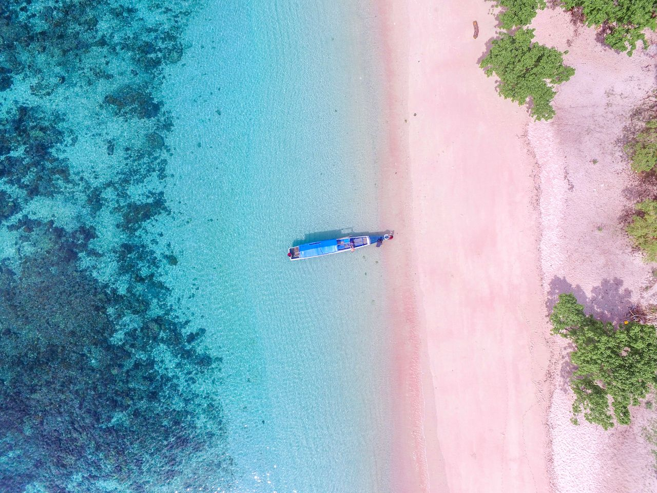 Indonesia Pink Beach