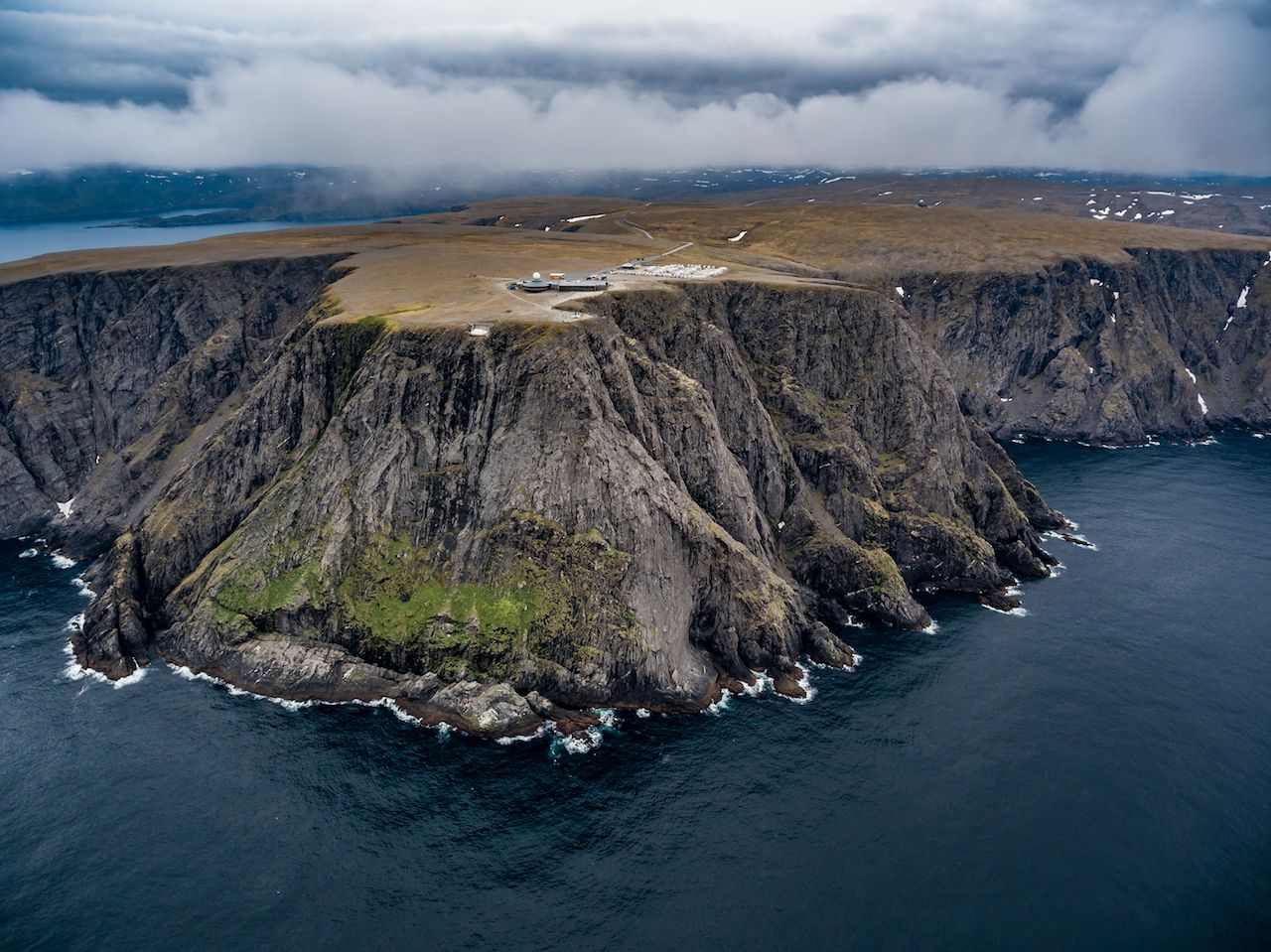 Aerial view of North Cape (Nordkapp) Norway