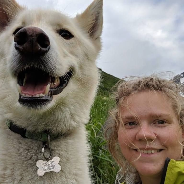 Amelia Milling saved by a dog in Alaska