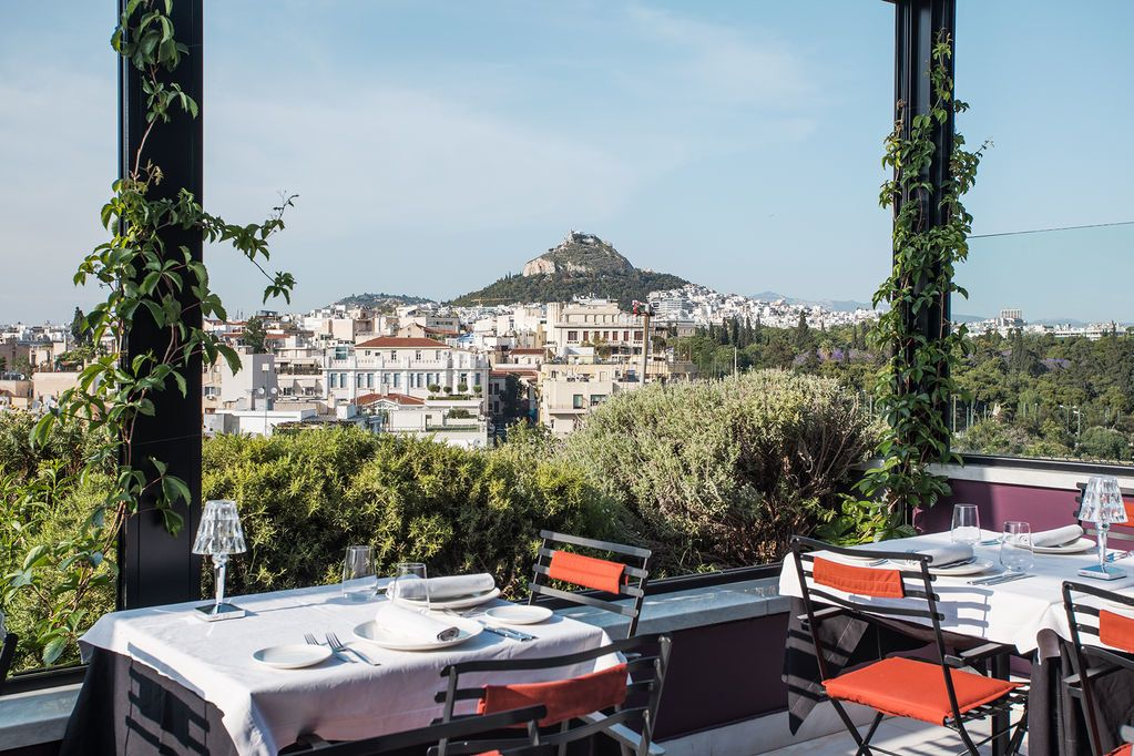 Athens rooftop bar view