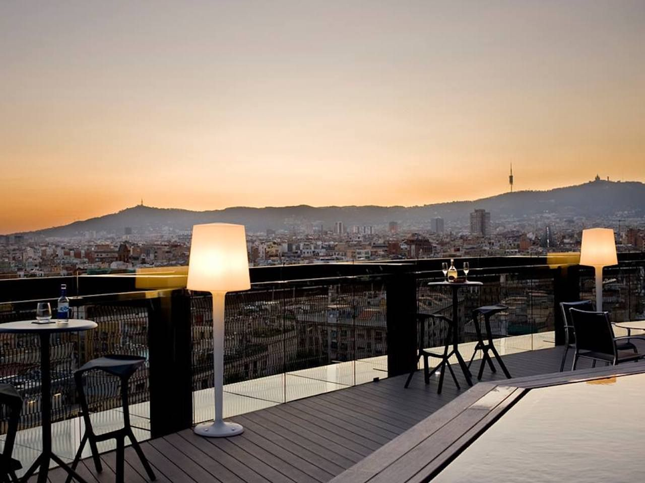 Barcelo Raval Hotel in Barcelona 360 Bar outdoor seating