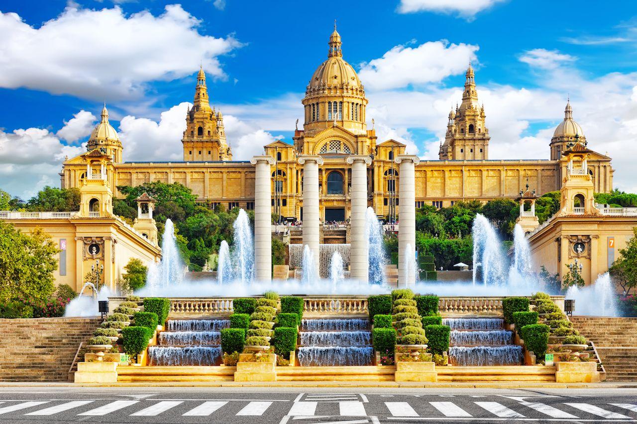 Barcelona, Placa De Espanya, Spain