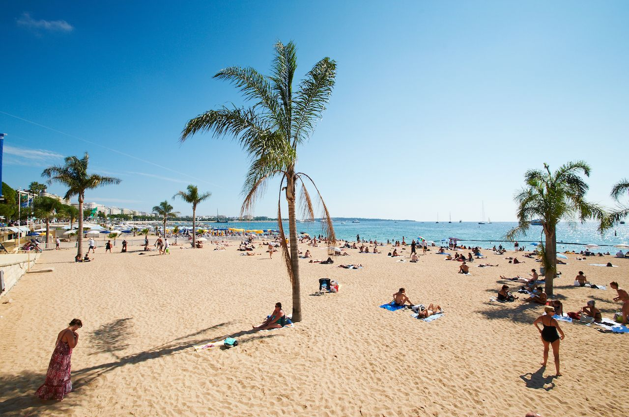 Beach in Barcelona Spain