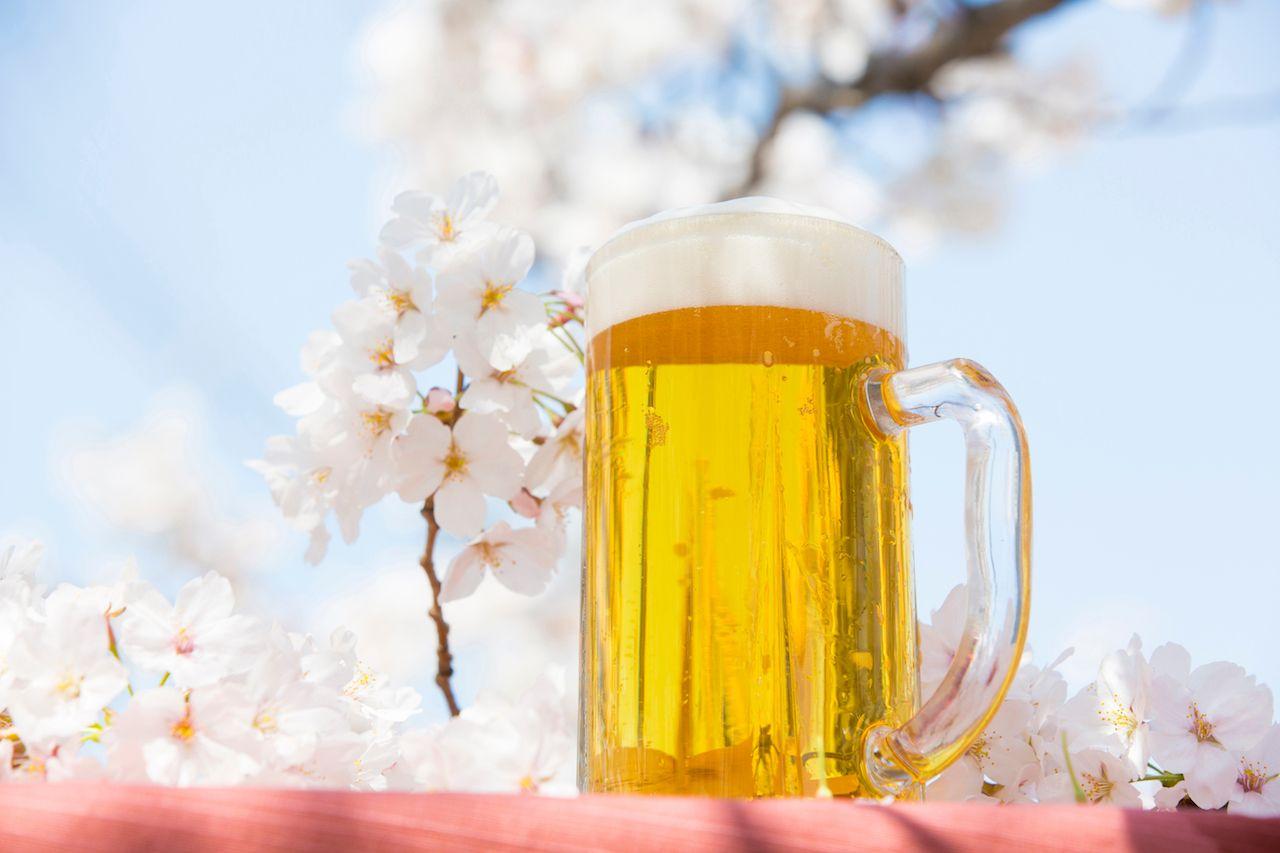 Beer glass in Japan