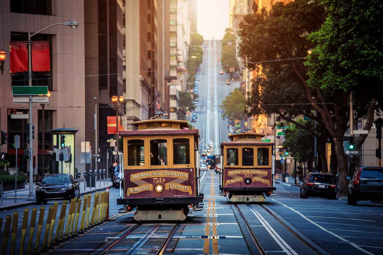 Cable cars in SF
