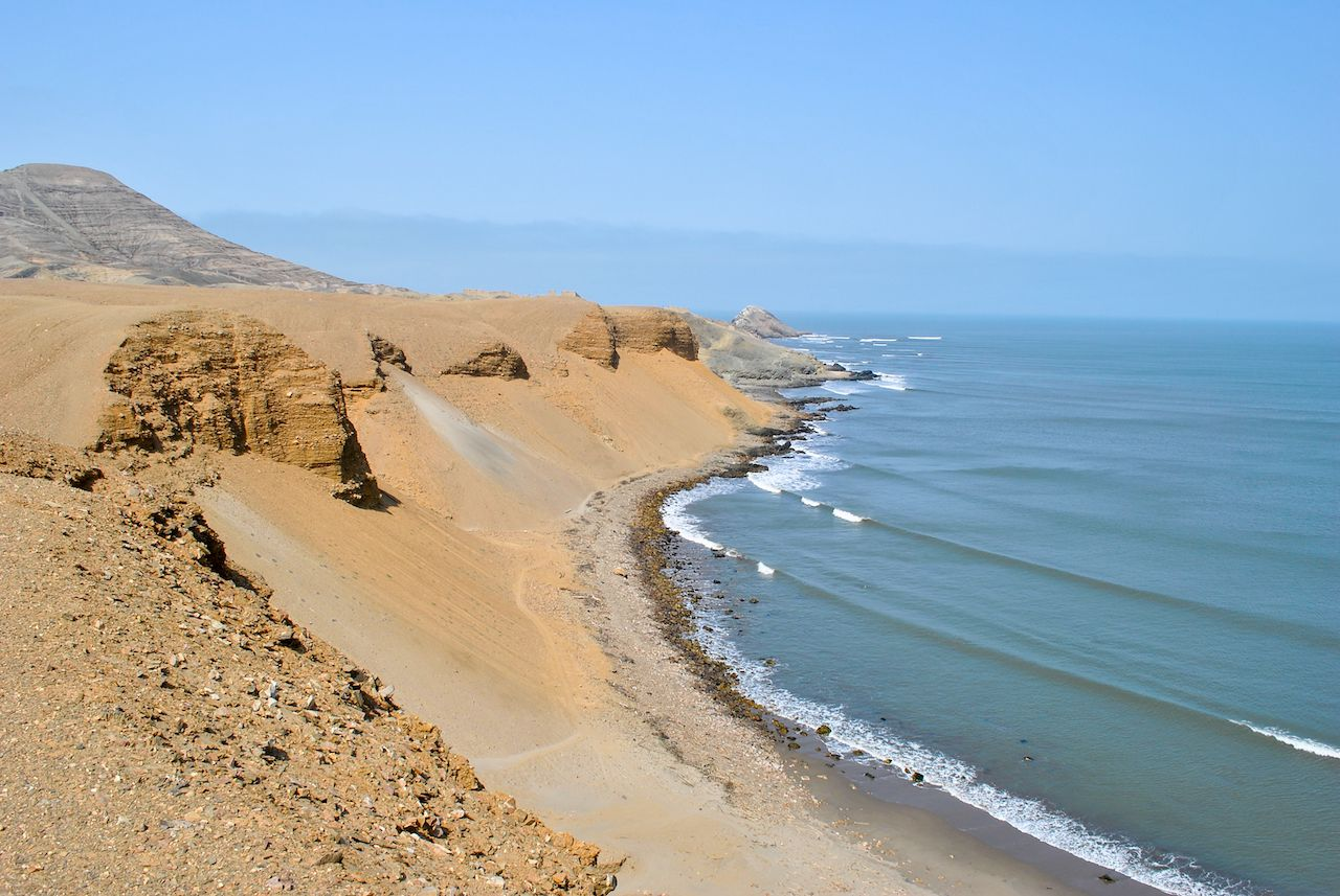 Surf spot in Chicama, Peru