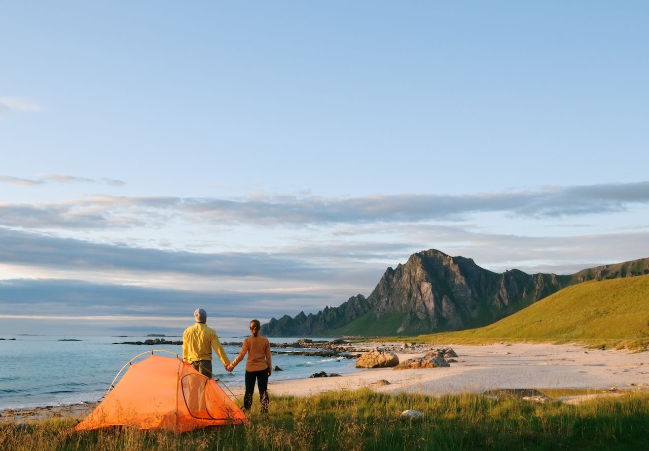 Places on the coast to go camping