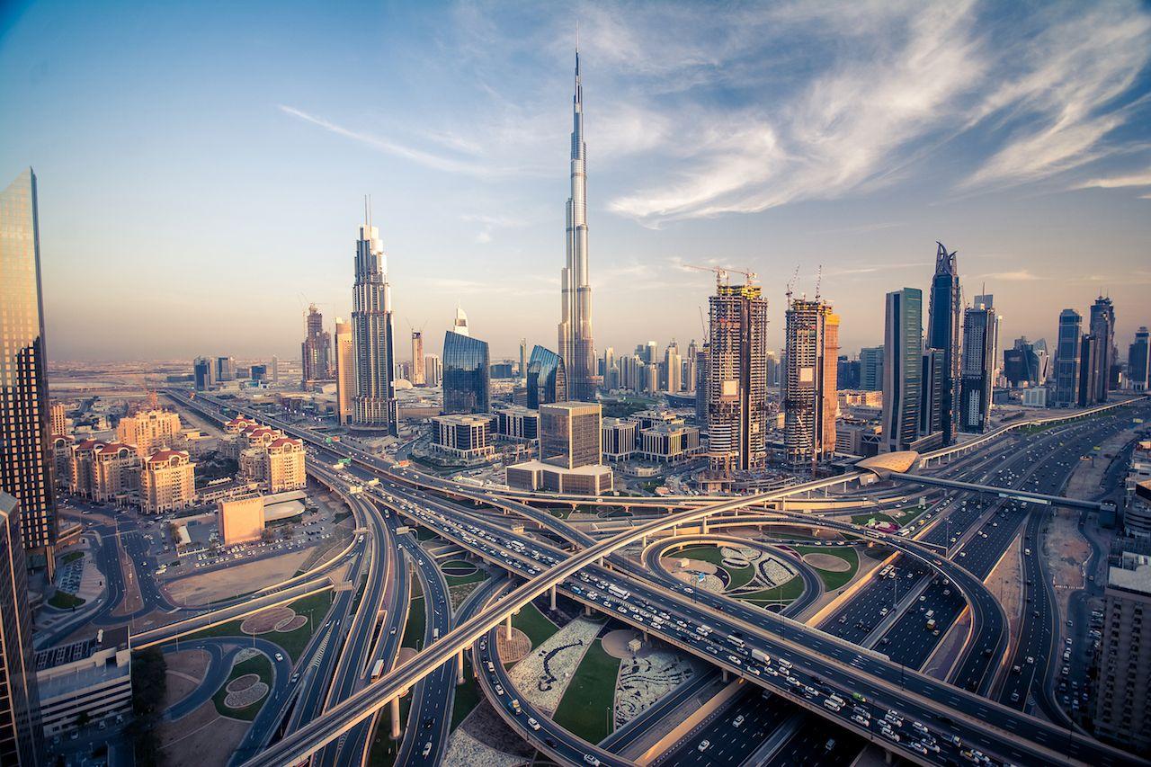 Dubai Burj Khalifa megalopolis