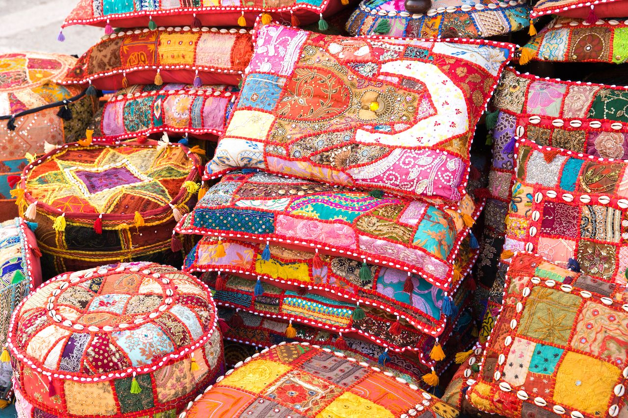 Embroidered pillows India