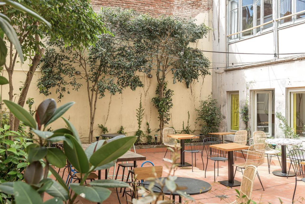 Factory Gardens Hostel in Barcelona, Spain