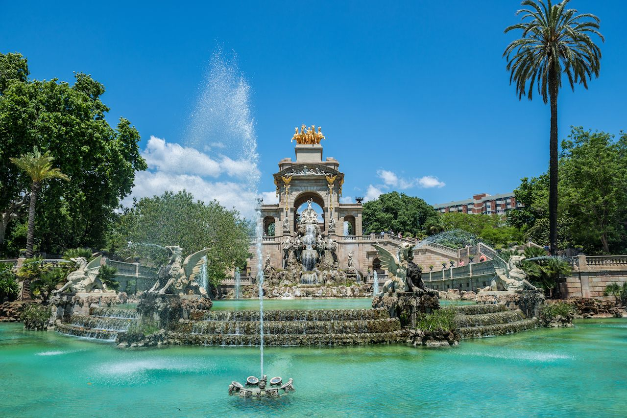 Fountain in Ciutadella Park called Cascada in Barcelona, ​​Spain