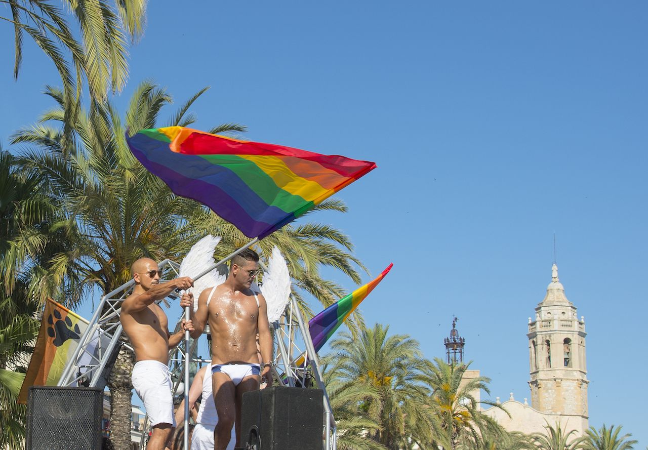 Gay Pride in Sitges in Spain