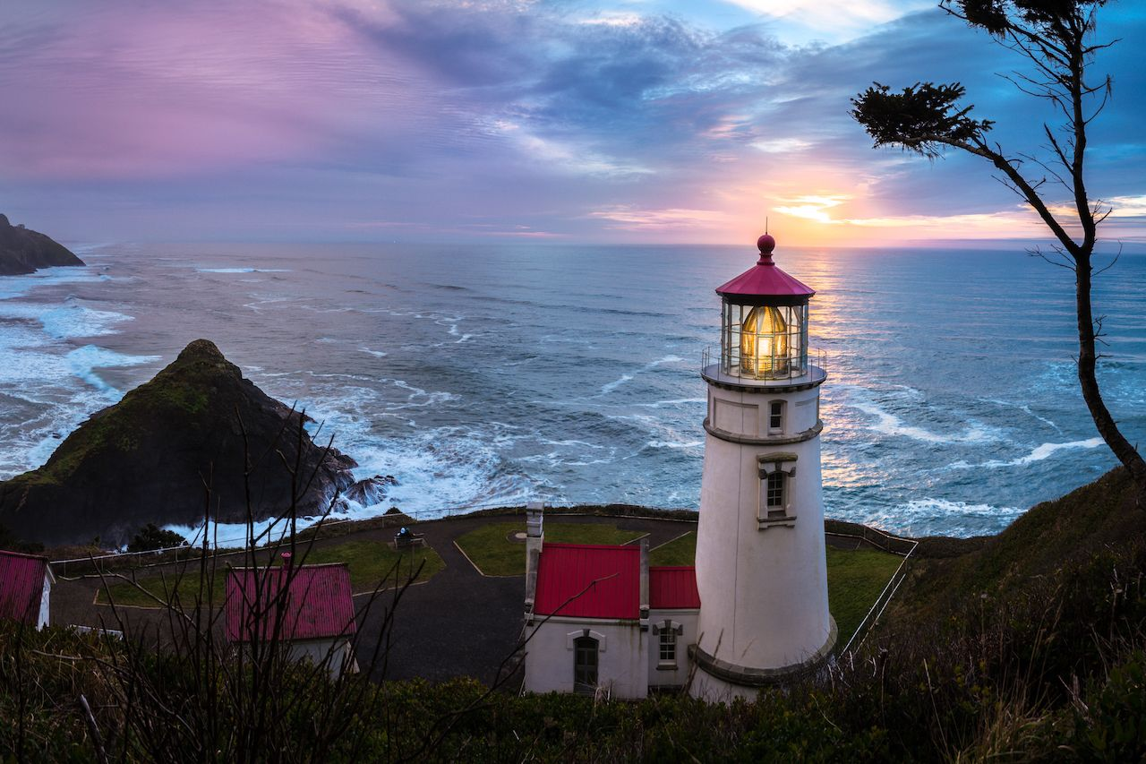 Heceta Head Lighthouse in Oregon, US