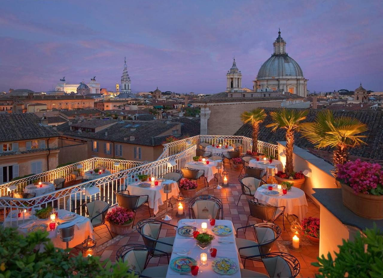 Hotel Raphael Rome views