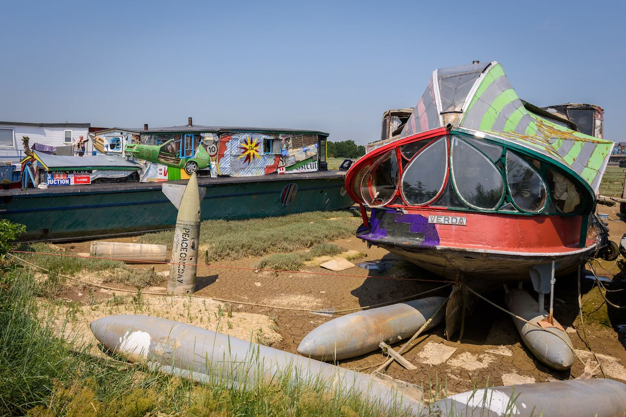 Houseboats of Shoreham Sussex