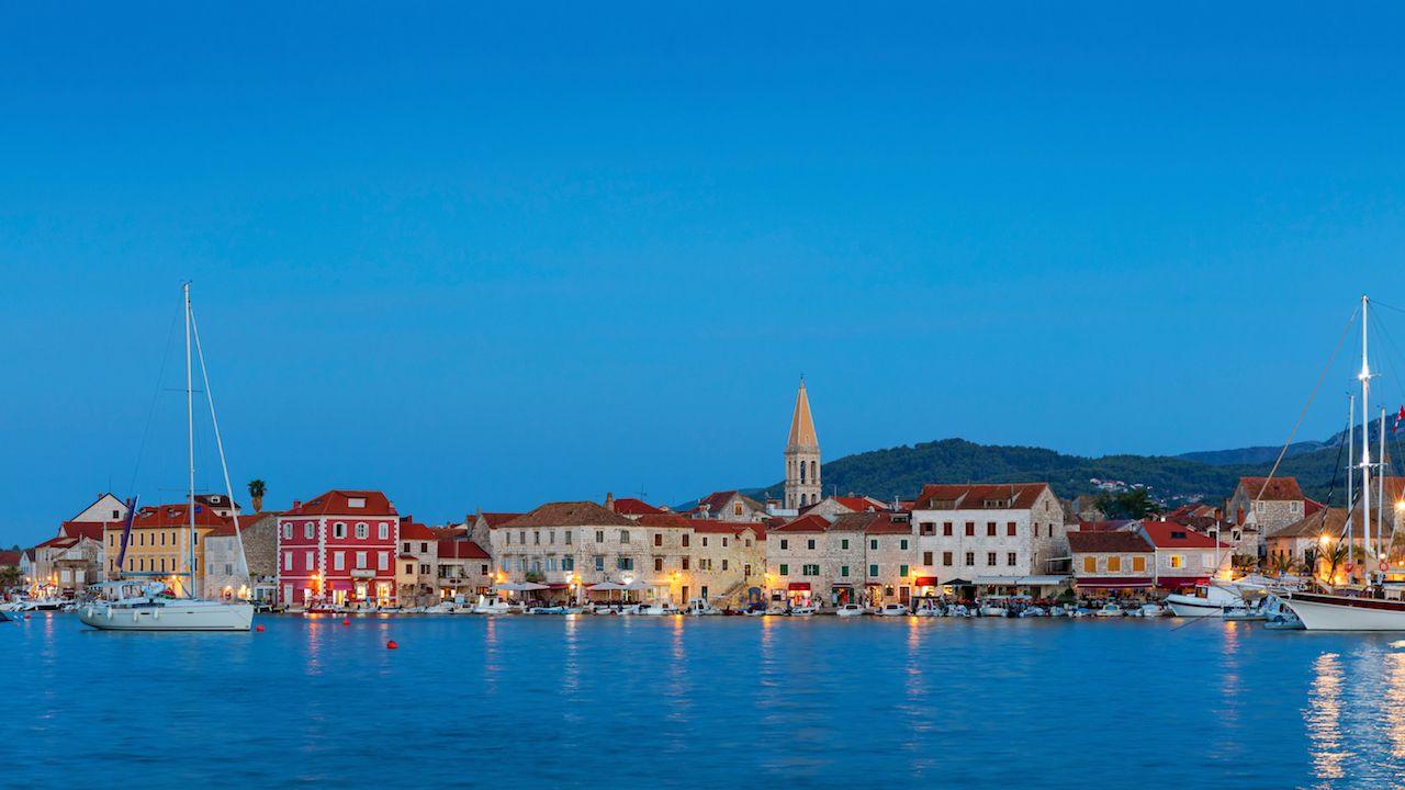 Hvar Croatia at night - Stari Grad