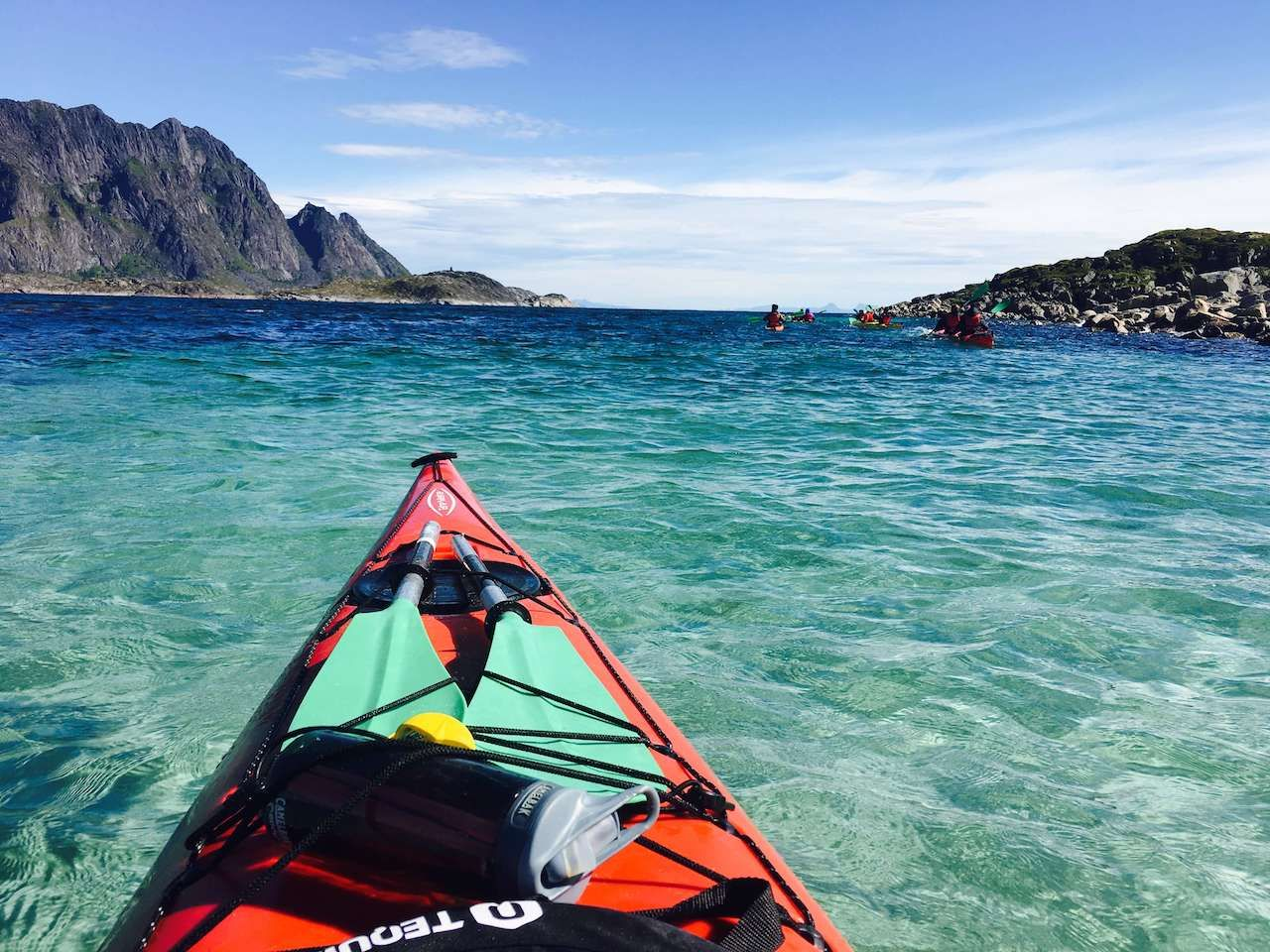 Kayaking Lofoten