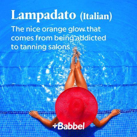 Lampadato Italian word