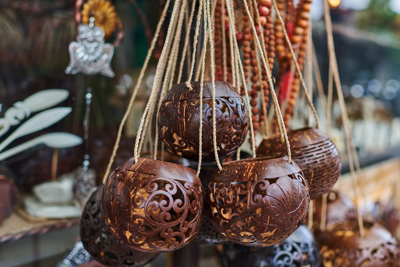 Lantern coconut shells
