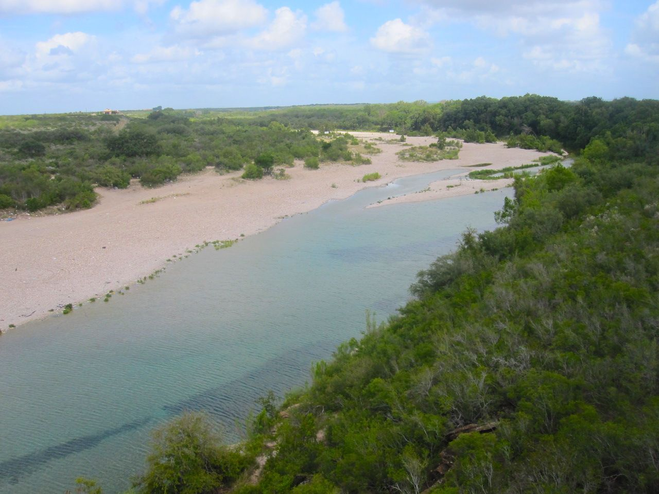 Tubing down Nueces River