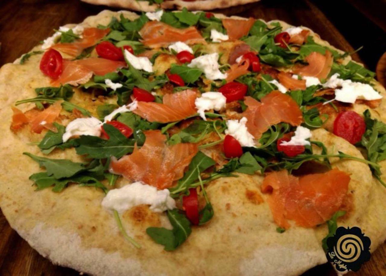 Pizza from La Mezcla Barcelona