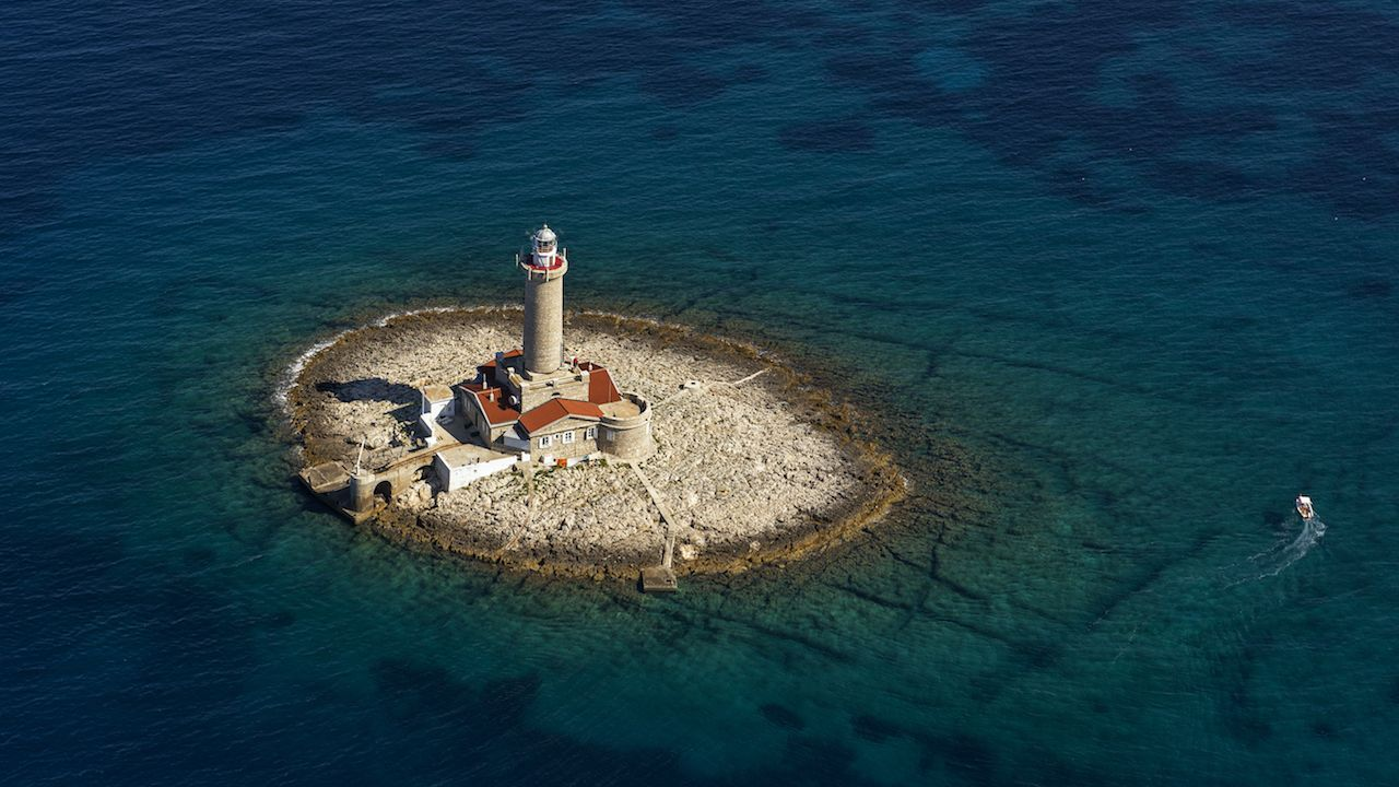 Porer Lighthouse in Croatia