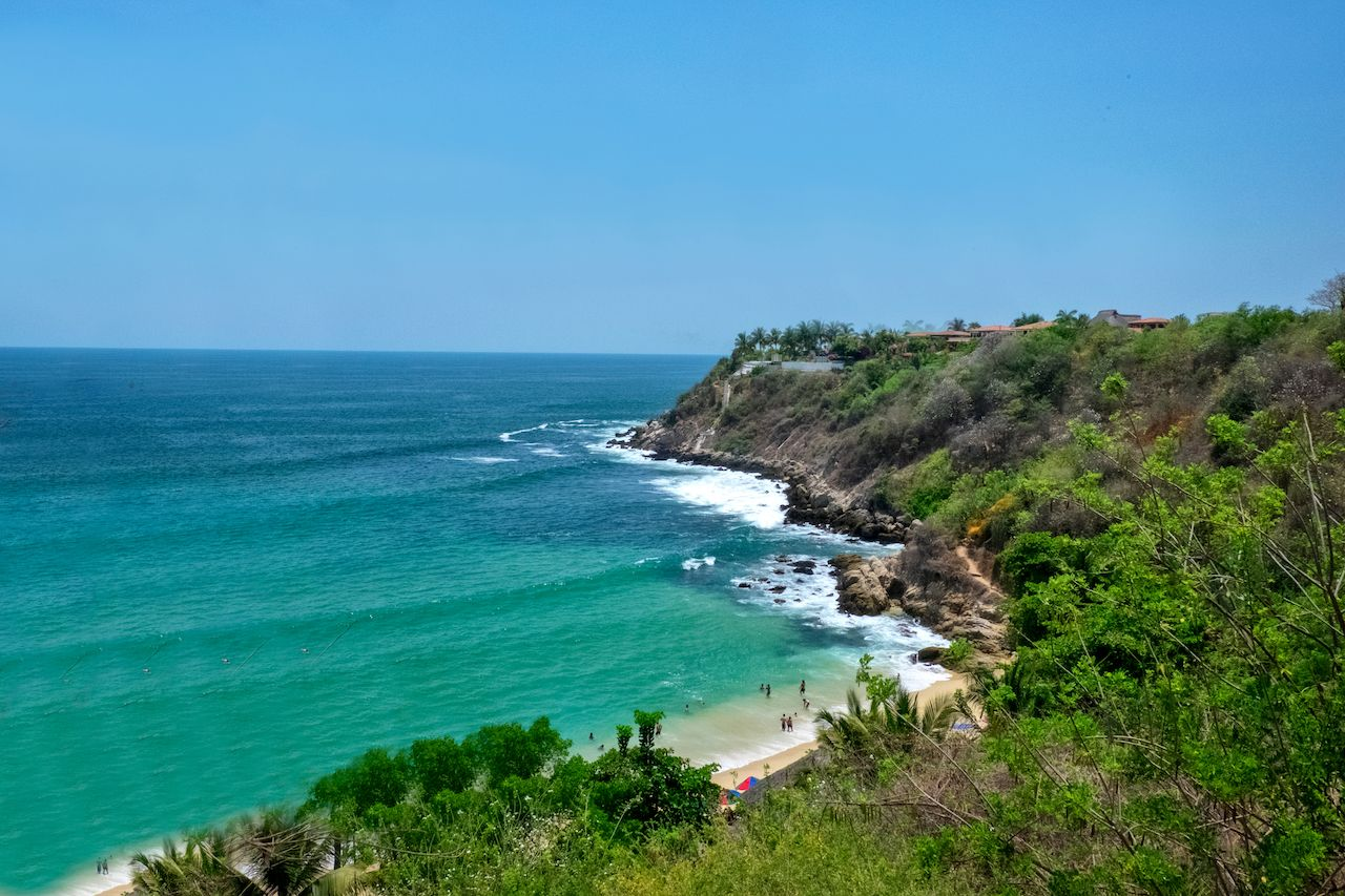 Puerto Escondido beach Mexico
