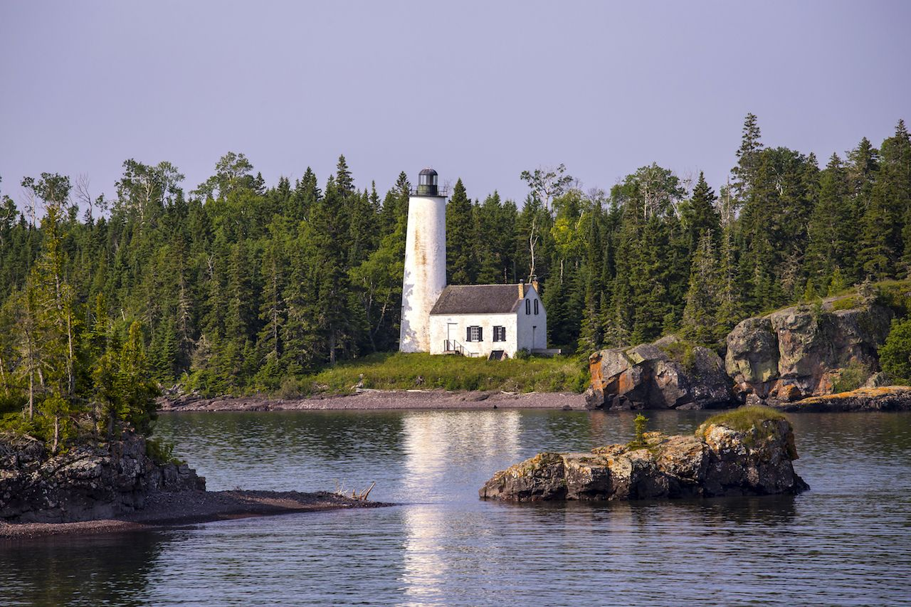 Rock Harbor Lighthouse in Isle Royale National Park, Michigan