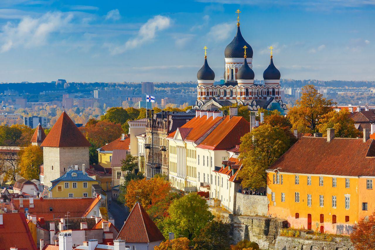 Russian Orthodox Cathedral in Tallinn, Estonia