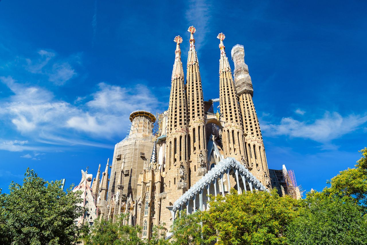 Sagrada Familia by Antoni Gaudi in Barcelona