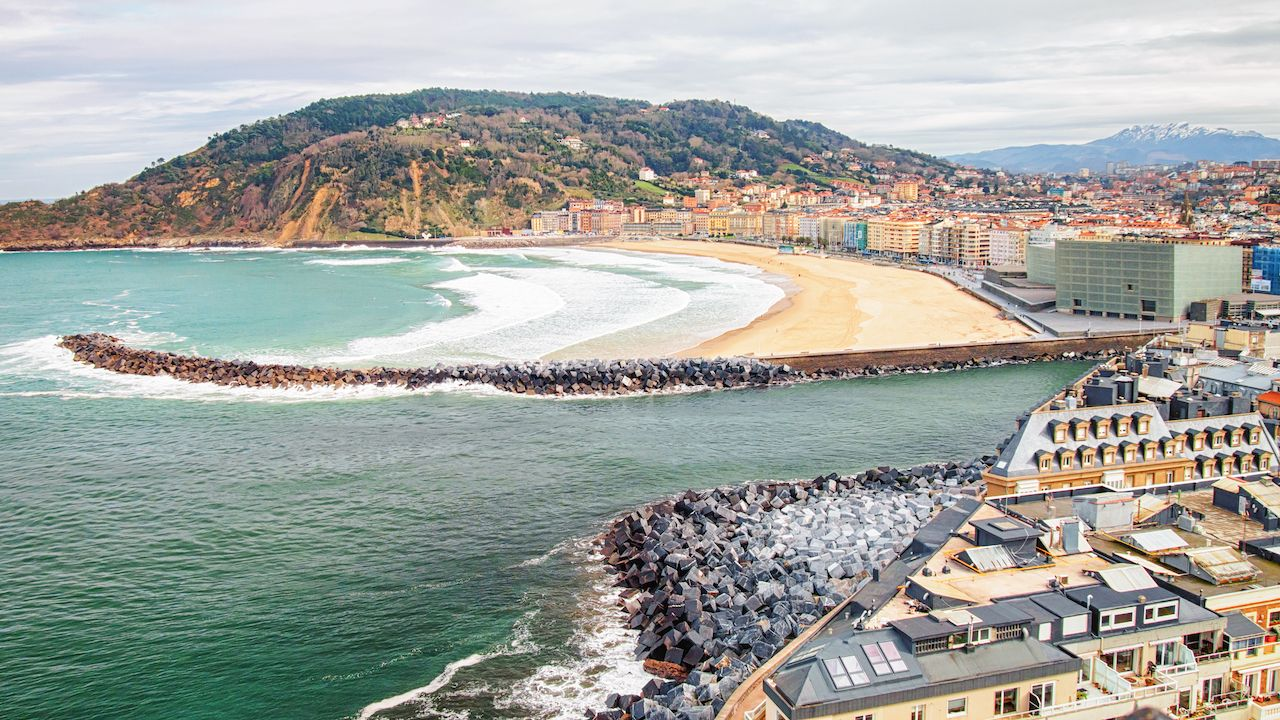 San Sebastian beach in Spain