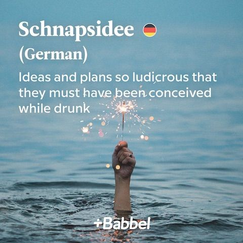 Schnapsidee German word