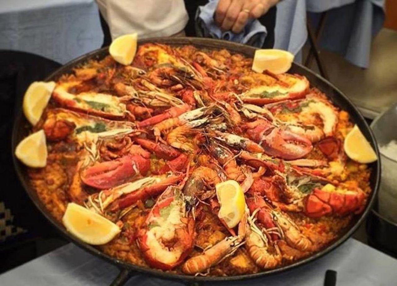 Seafood paella from Restaurante Salamanca Silvestre in Barcelona