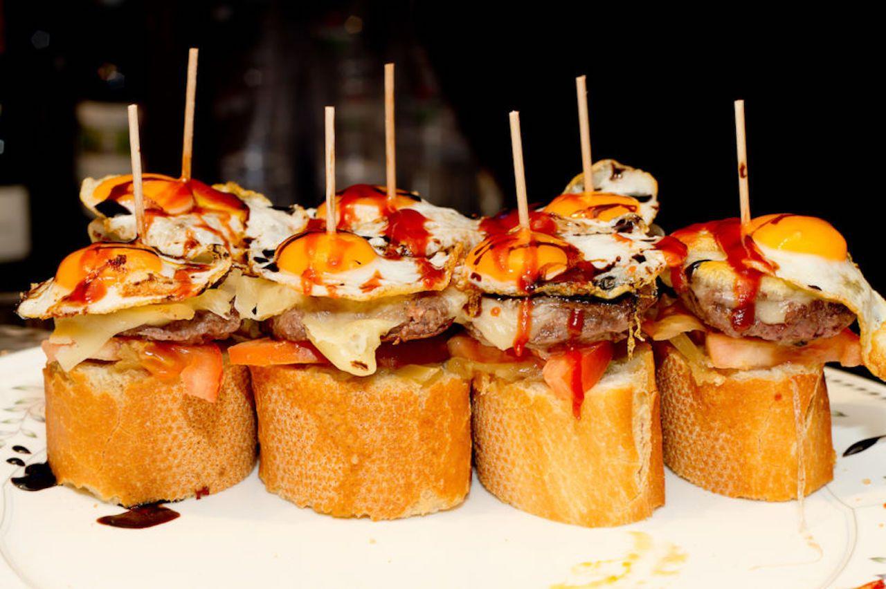 Spanish tapas called Basque country pintxos