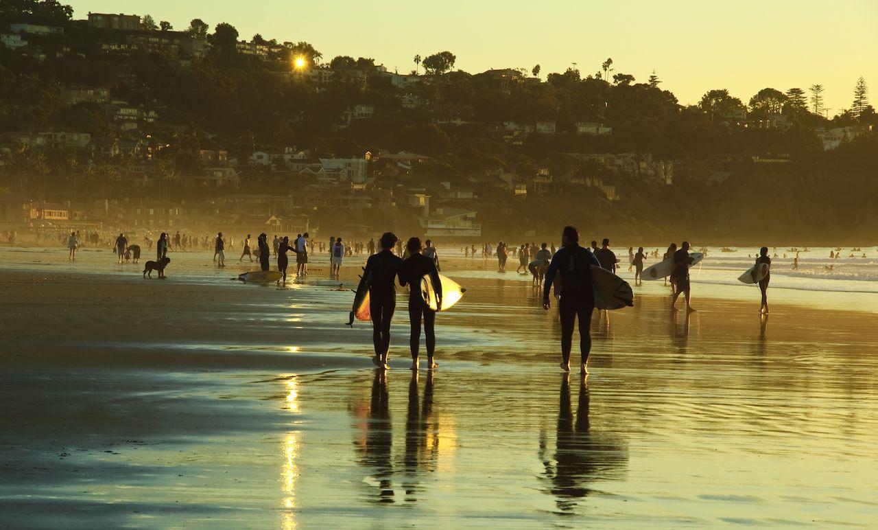 Surfers in La Jolla San Diego