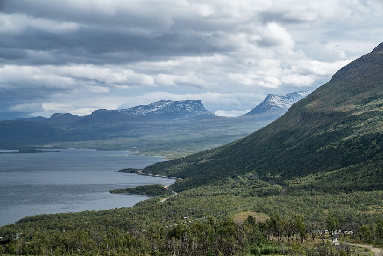 Sweden mountains in summer