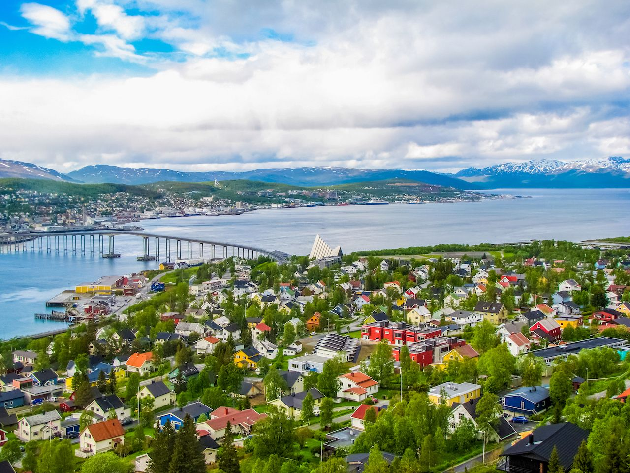 Tromso Norway in summer
