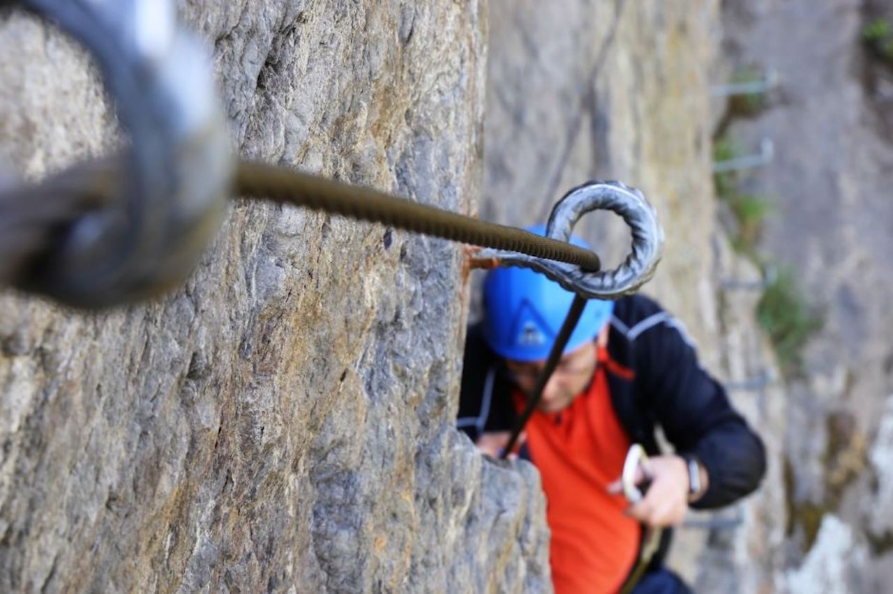 Via ferrata rock climbing