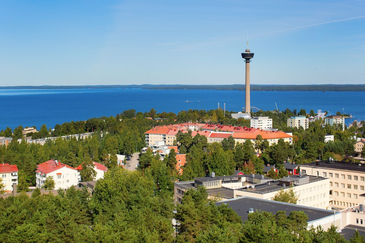 View of Tampere Finland