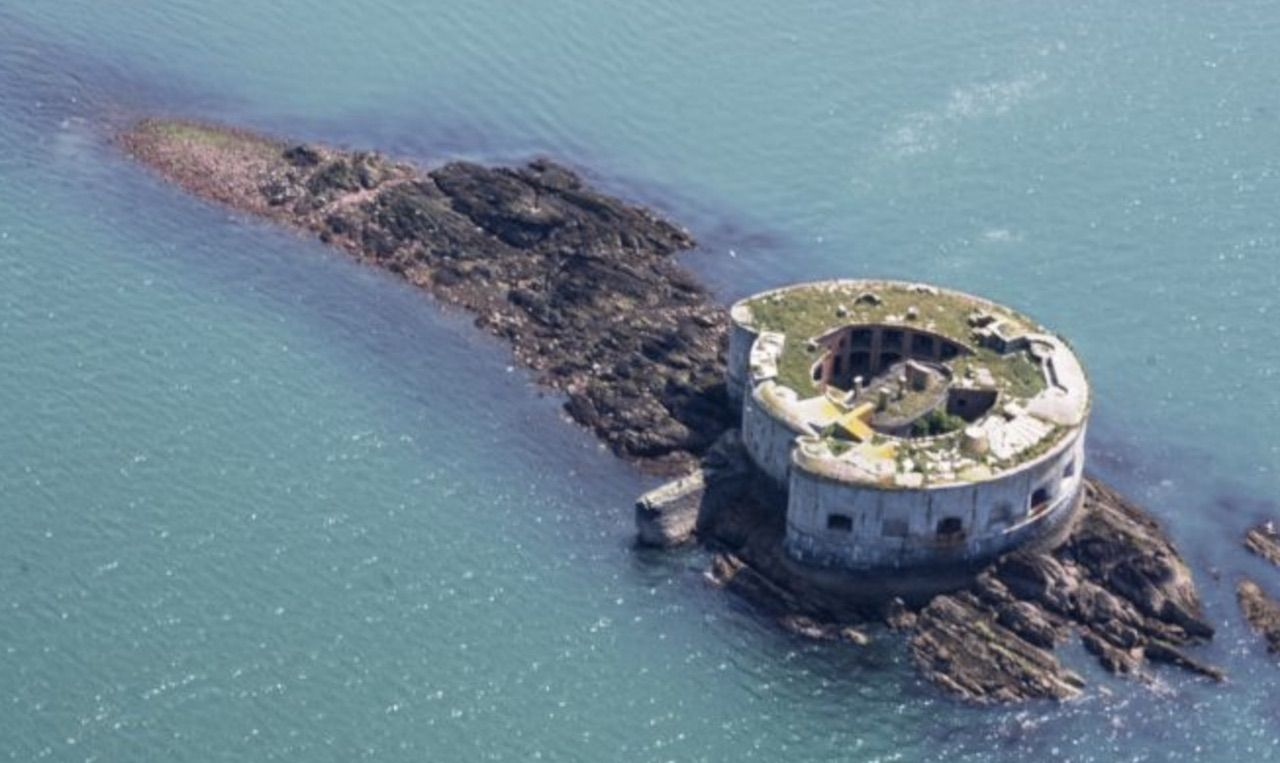 Island fort in South Hook, Milford Haven