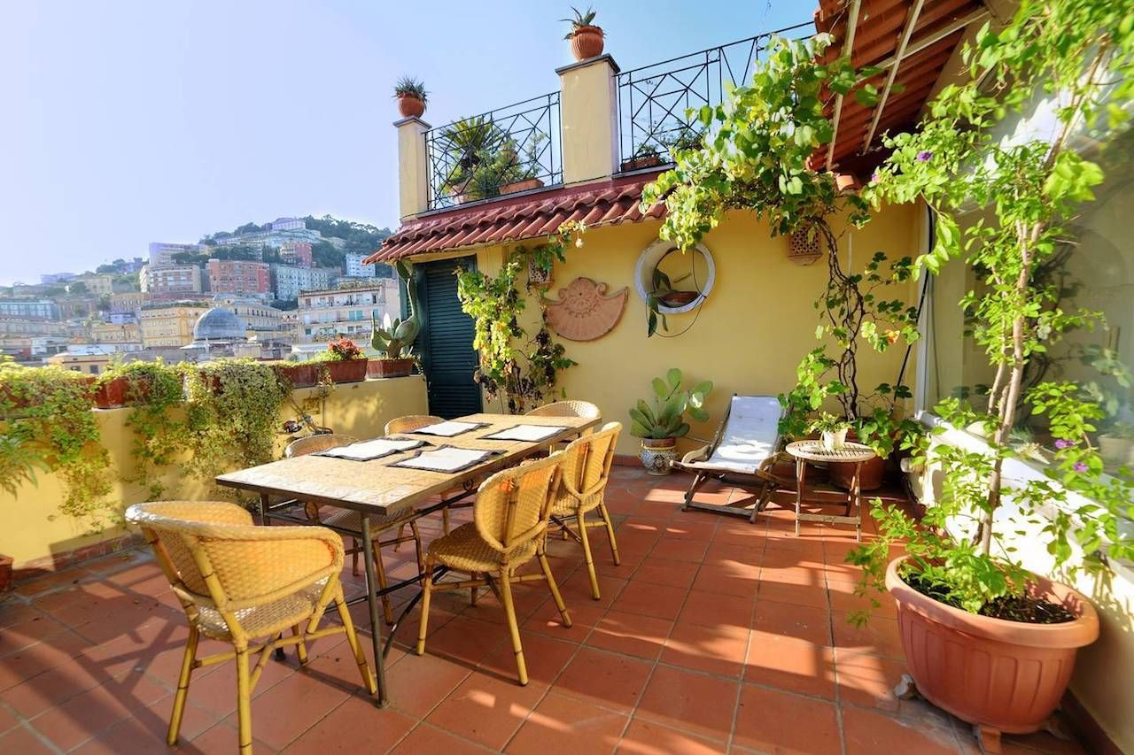 Panoramic terrace in Italy