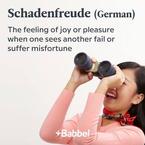schadenfreude german word