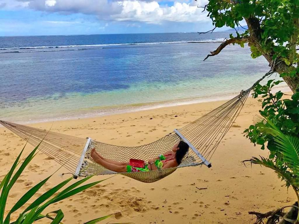 woman in hammock in Fiju Islands