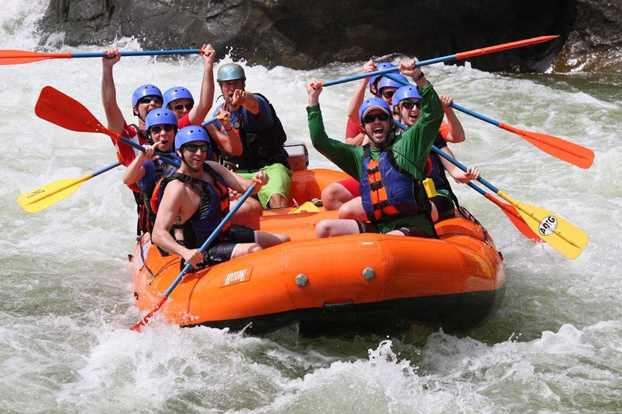 whitewater rafters on an Adventures On The Gorge trip